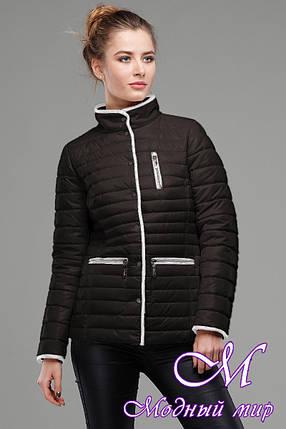 Женская черная демисезонная куртка (р. 42-56) арт. Селена, фото 2