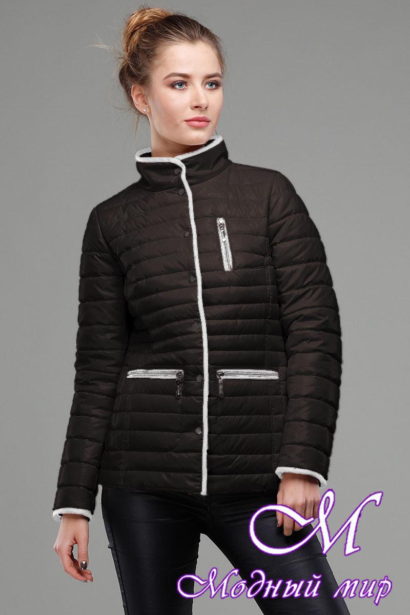 Женская черная демисезонная куртка (р. 42-56) арт. Селена