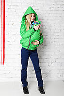 Куртка демисезонная 3в1: беременность, слингоношение, обычная куртка с детским капюшоном