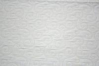 Ткань, стеганая вензелем  для плотных штор и покрывал, молочная.