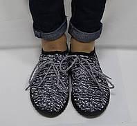 Кросовки женские черный меланж, фото 1