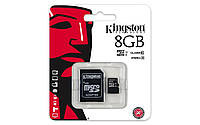Карта памяти microSDHC 8Gb Kingston (Class 10) + Adapter SD