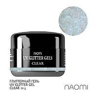 Глиттерный гель Naomi UV Glitter Gel Clear 14 гр