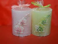 Свечи свадебные столбики орхидея