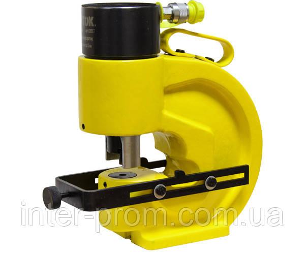Шинный перфоратор с автоматическим прижимом шины и паралельным упором ШП-110АП+