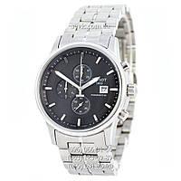 Наручные часы Tissot Powermatic 80 Chronograph Steel Silver/Black