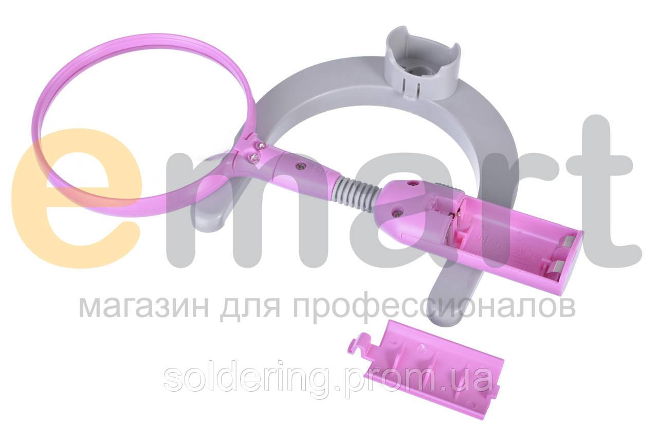 Лупа настольная с LED подсветкой, 2.5X увеличение, диаметр 107 мм Magnifier15116