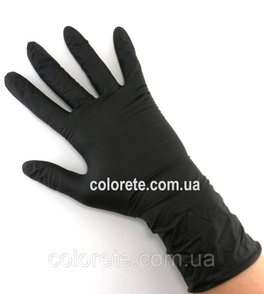 Перчатки нитриловые неопудренные черные XS Медиком SafeTouch 1187 A, 6г/м² (10 шт./5 пар)