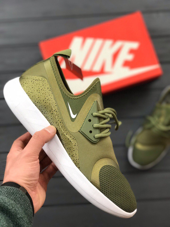 Кроссовки Nike Lunarcharge Essential Medium Olive. Живое фото. Топ качество! (Реплика ААА+)