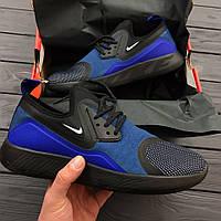 Кроссовки Nike Lunarcharge Essential Blue . Живое фото. Топ качество!