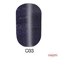 Гель-лак 6 мл Naomi Cat Eyes С03 серый с фиолетовыми шиммерами