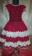 Вязанное летнее детское платье 7-8 лет