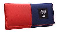 Модный женский кошелек 322 red/blue