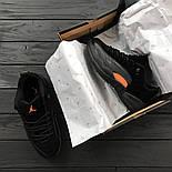 Мужские кроссовки Nike Air Jordan 12 Retro Low 'Black & M. Живое фото. Топ качество (Реплика ААА+), фото 2