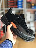 Мужские кроссовки Nike Air Jordan 12 Retro Low 'Black & M. Живое фото. Топ качество (Реплика ААА+), фото 4