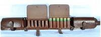 Закрытый патронташ на 24 патрона, коричневый, кожа-спилок