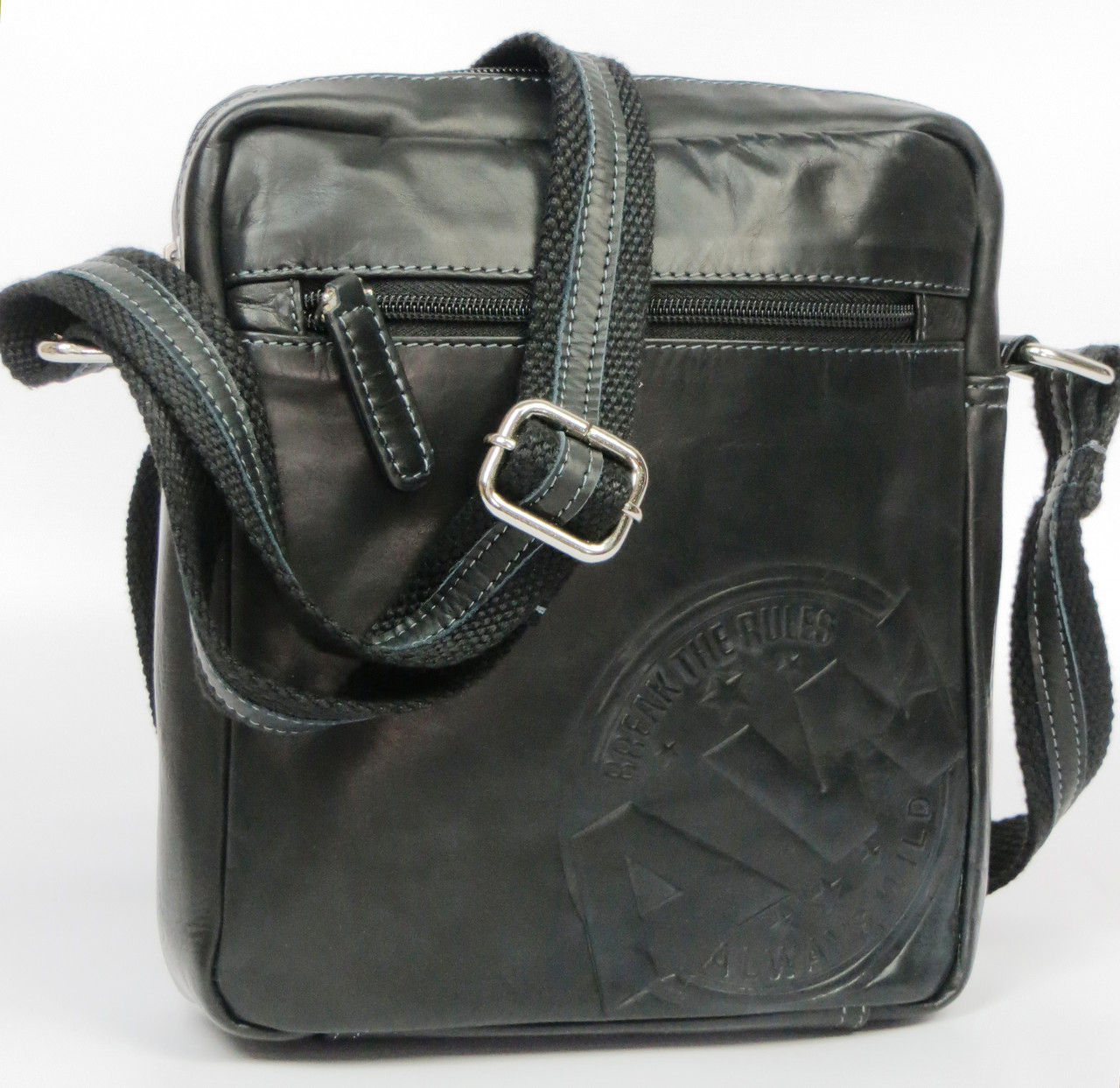 Кожаная сумка для документов Always Wild 242WS черная