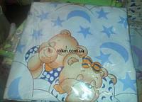 Комплект сменного постельного белья 3 в 1 бязь Мишки спят