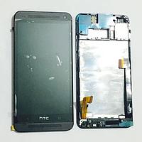 Оригинальный дисплей (модуль) + тачскрин (сенсор) с рамкой для HTC One 801e M7 (черный цвет)