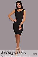 Нарядное черное платье с чокером