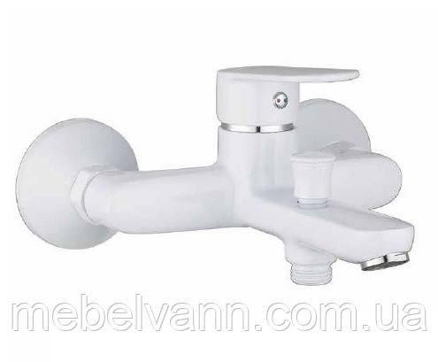 LASKA cмеситель для ванной, белый, IMPRESE 10040W