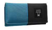 Модный женский кошелек 322 blue/black