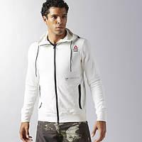Худи для мужчин Reebok CrossFit Fleece Full Zip BK1080 - 2017