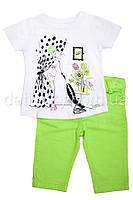 Комплект: бриджи и футболка для девочки 2-5 лет (92, 104, 110 размер)