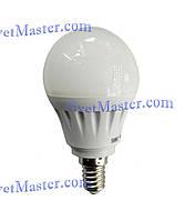 """Светодиодная (LED) лампочка миньон 3 Вт W """"Шар"""", E14, 220 В"""