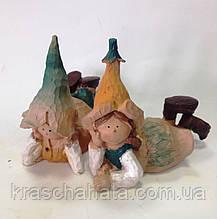 Статуэтка, Садовая фигурка, Гном лежит, 10х5х9 см, полистоун, Подарки исувениры, Днепропетровск