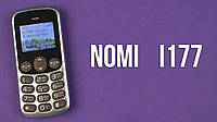 Телефон Nomi i177 на 2 Sim Бабушкофон в металлическом корпусе