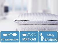 Подушка бамбуковая сатин 50х70 мягкая на молнии