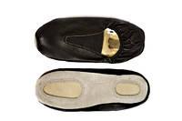 Чешки гимнастические кожаные, цвет черный,35,36