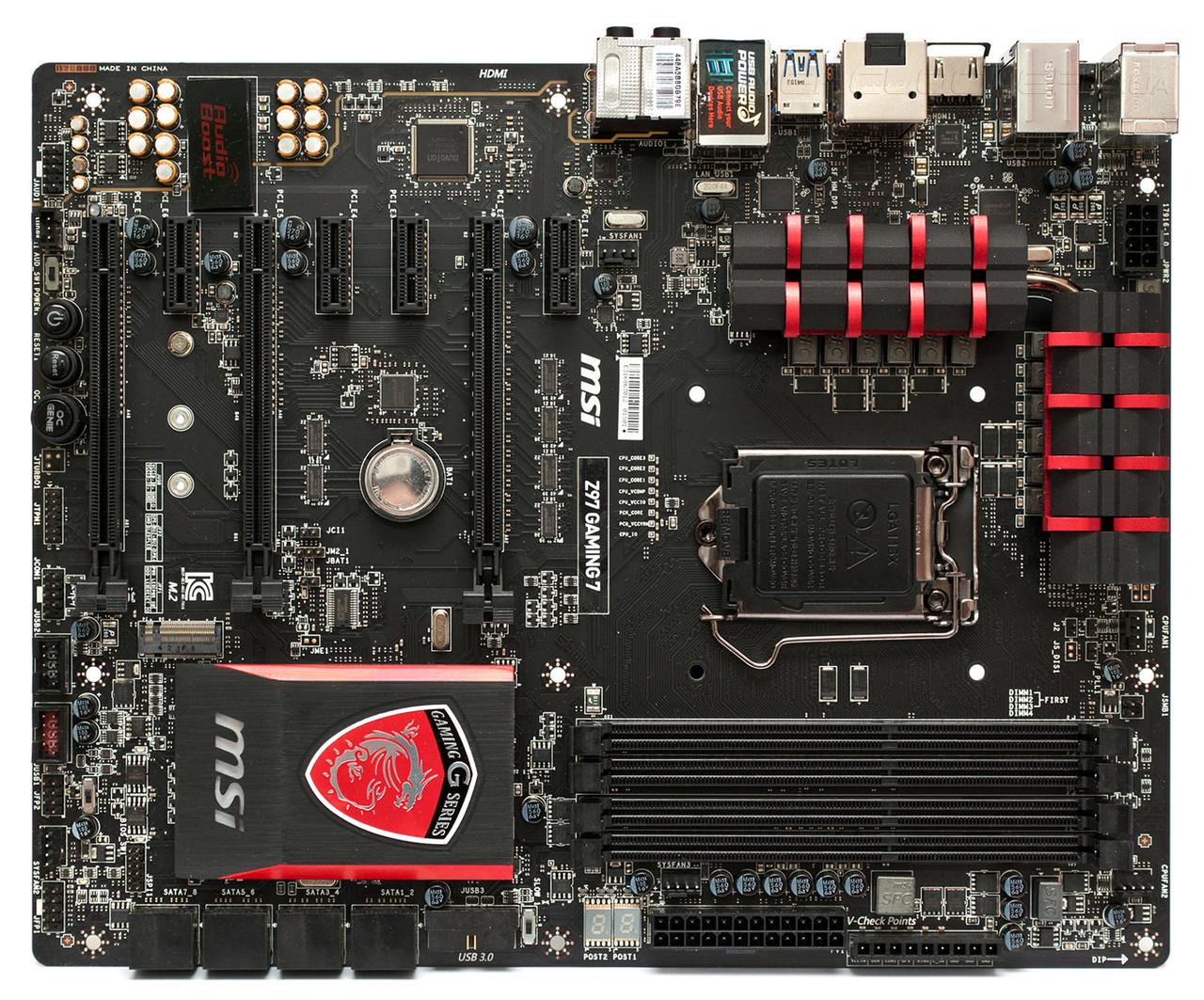"""Материнская плата MSI Z97 GAMING7 Socket 1150 DDR3 Z97 """"Over-Stock"""" Б/У"""
