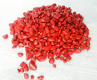 Цветной гравий декоративный для ландшафта , сада , могилы Коричневый (195) (195) Красный