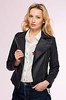 Кожаная  демисезонная куртка - косуха Черный