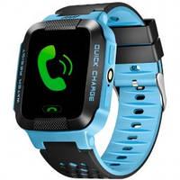 UWatch Детские часы Smart GPS Y21+камера Blue, фото 1
