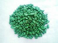 Декоративная цветная черная каменная крошка галька гравий для сада  , клумб(196)(196) Зеленый