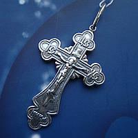 Серебряный крест с распятием, 4,5 грамма