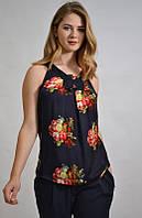 Стильная блузка-майка летняя шелковая 55986 CARLA Турция, фото 1