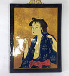 Картина, Японка, 40х30 см, Картины для декора, Японский стиль, Гейша,  Днепропетровск, фото 3