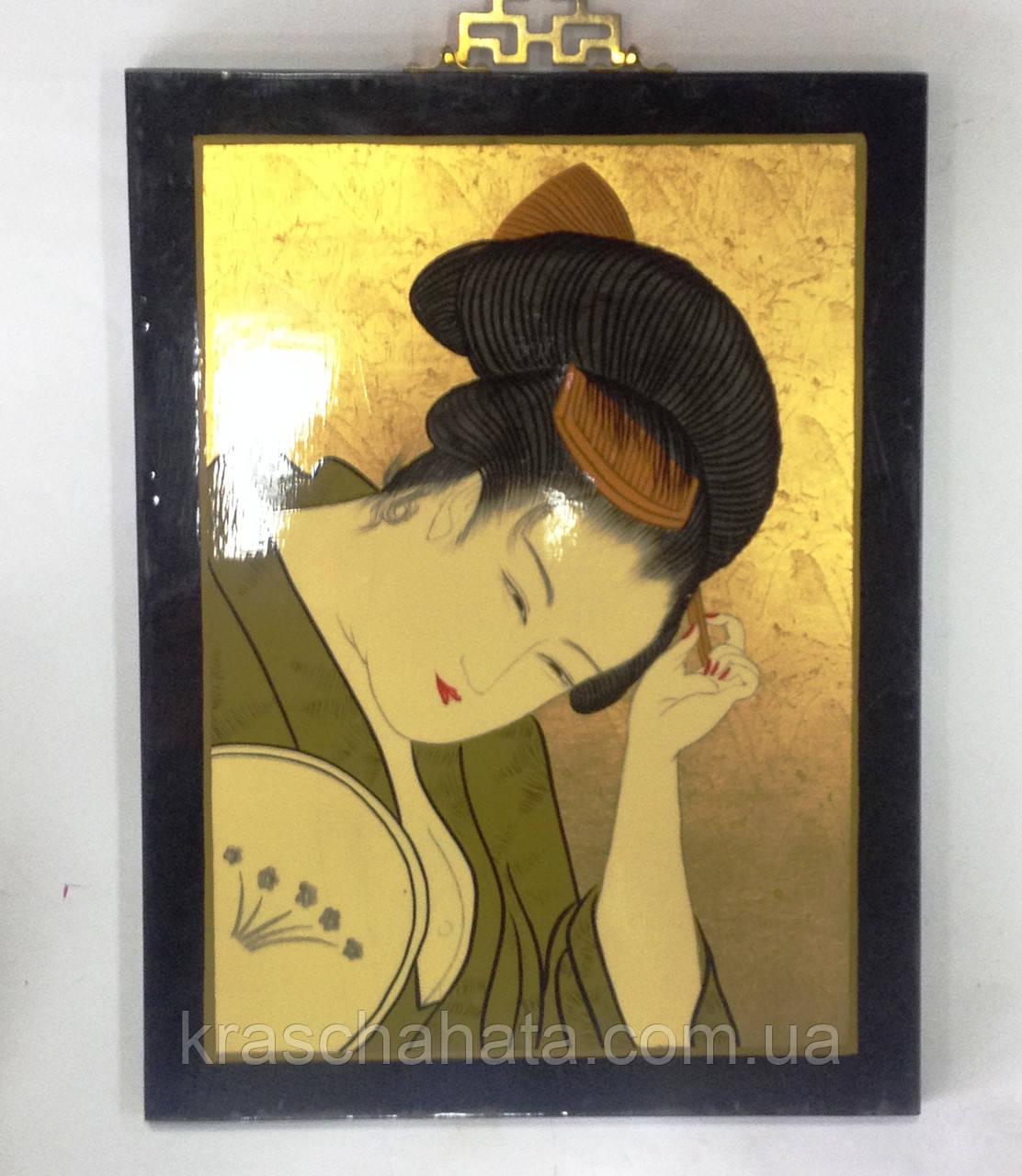 Картина, Японка, 40х30 см, Картины для декора, Японский стиль, Гейша,  Днепропетровск