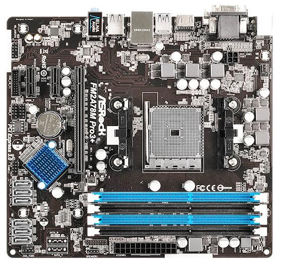 """Материнская плата ASRock FM2A78M PRO3+  s.FM2+/s.FM2 DDR3 """"Over-Stock"""""""