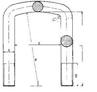 Стремянка рессоры ман MAN 2005 М16х81х355