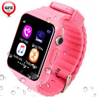 UWatch Детские часы Smart GPS V7K Purple(+Гарантия)