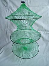 Садок рыболовный на затяжке (зеленый)