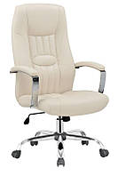 Кожаное кресло для руководителя Halmar Hakon крем