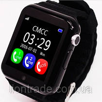 UWatch Детские часы Smart GPS V7K Black(+Гарантия)