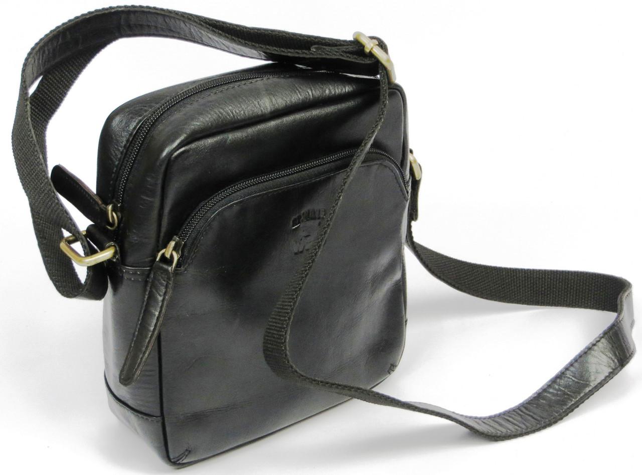 Мужская кожаная сумка для документов  Always Wild 5742 black черный