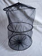 Садок для рыбы на затяжке (черный)